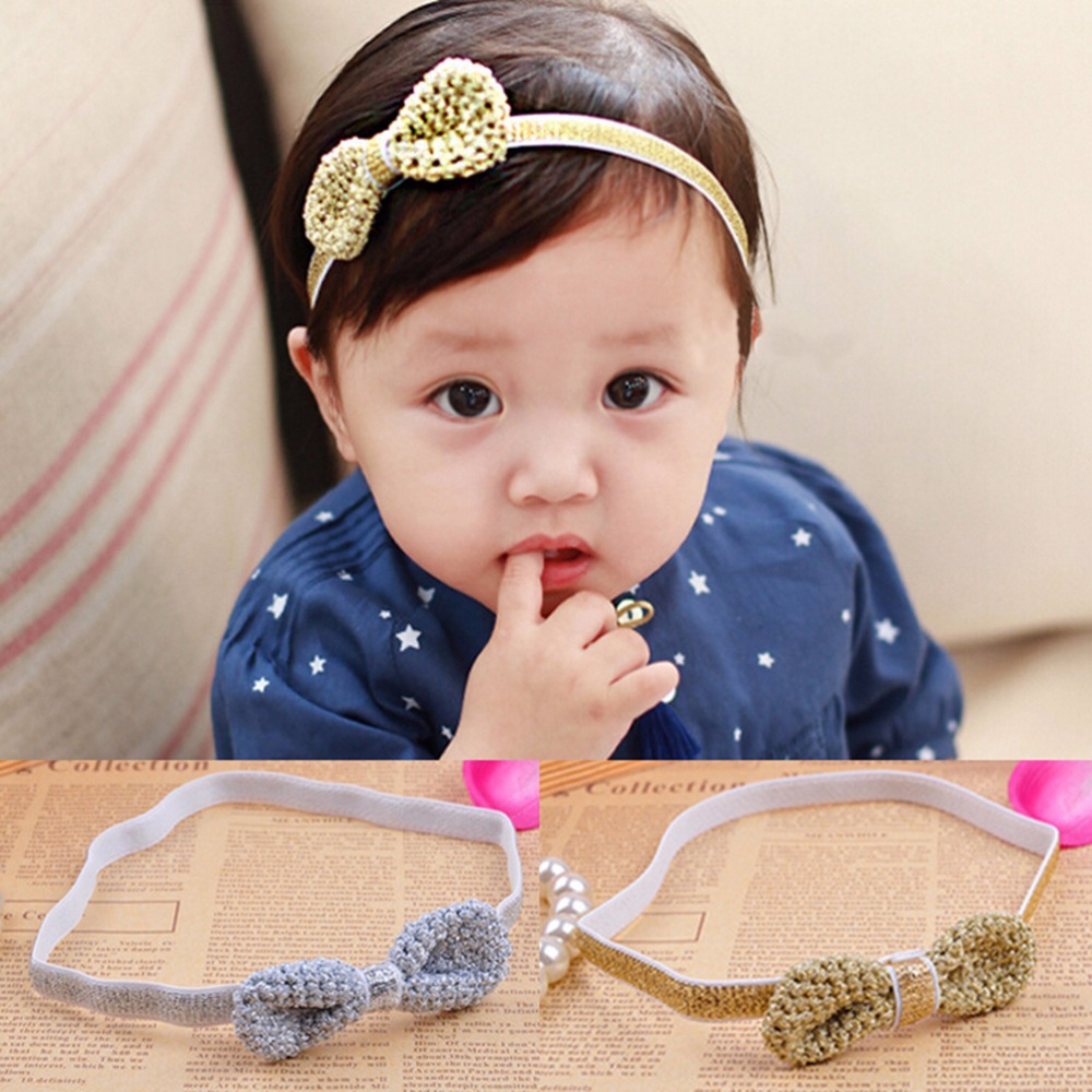 New 2016 Infant Hair Accessories Girls Bow Headband Toddler hair bands Christmas Gifts Baby Bow Headband Hair Bowknot Headbands