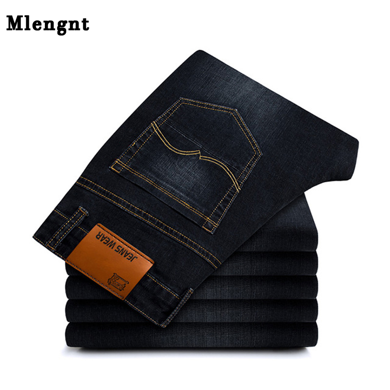Men's Classic Stretch Black Skinny Jeans Autumn Casual Straight Denim Pants For Man Large Size Streetwear Men 2019 New 2XMR30
