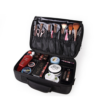 Women Large Capacity Professional Makeup Organizer Fashion Toiletry Cosmetic Bag Travel Storage Box Portable Suitcase Handbag kundui suitcase women men travel bag thickening aluminum alloy laptop large toolbox lockable storage display box briefcase