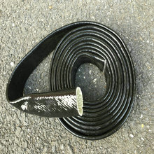 3/4 inch X 3ft  Black Vulcan Fire Sleeve Glassfiber Braid Flame Shield Firesleeving Heat Shield For Engine Hose