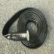 Protector de llama trenzada de fibra de vidrio, protector de calor para manguera de motor, color negro, Vulcan, 3/4 pulgadas X 3 pies