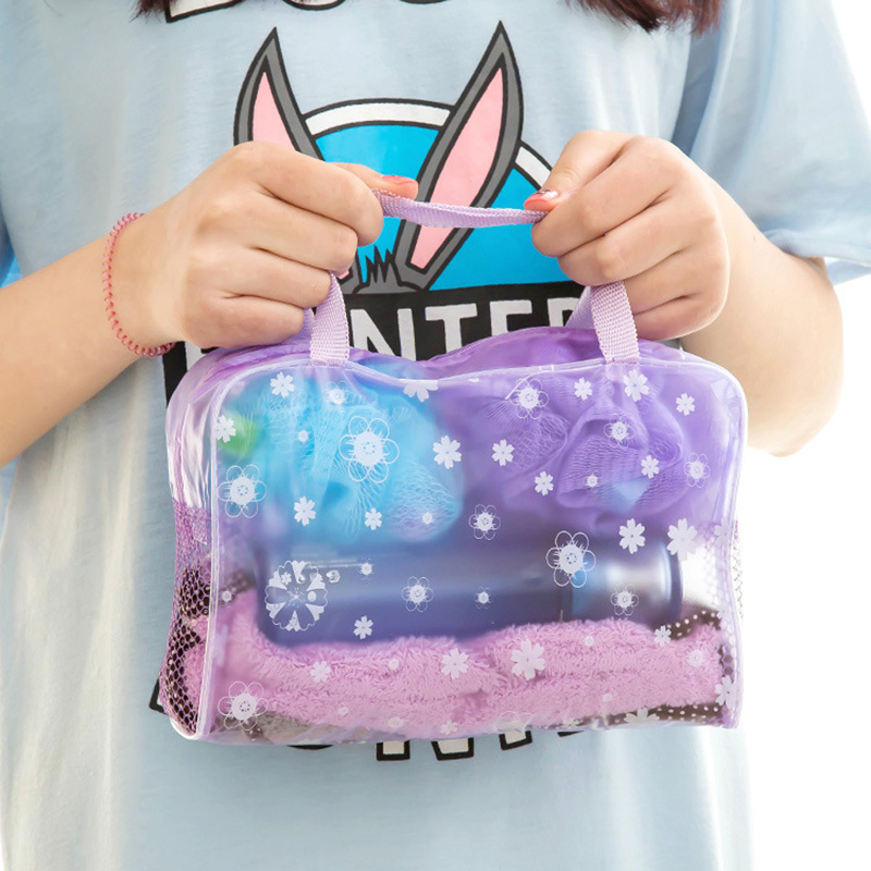 Klsyanyo PVC Transparent Travel Cosmetic Bag Zipper Trunk Makeup Case Toiletry Wash Bag Women Handbag Organizer Storage Pouch new women fashion pu leather cosmetic bag high quality makeup box ladies toiletry bag lovely handbag pouch suitcase storage bag