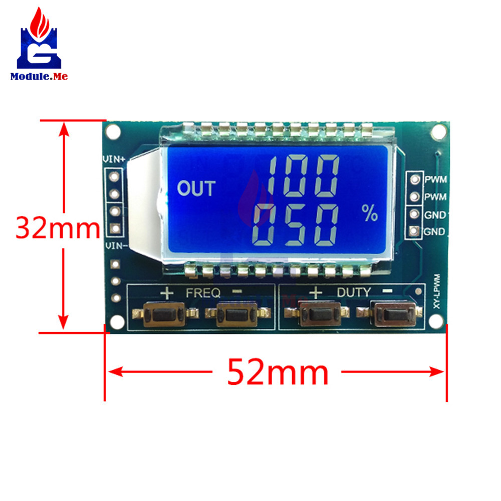 4pin 13 Inch Iic I2c Serial 128x64 Ssh1106 Oled Lcd Display 1hz Clock Generator With Chip On Board Cob Signal Pwm Pulse Frequency Duty Cycle Adjustable Module 150khz 33v