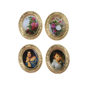 Image 3 - Mini Retro Frame Mural Wall Painting 1:12 Furniture Toys Dollhouse Miniature Accessory Pretend Play Classic Toys