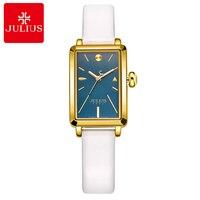 Women's Fashion Casual Quartz Analog Waterproof Watch Female Leather Band High Quality Gift Watches Julius Girls Hour Time Reloj