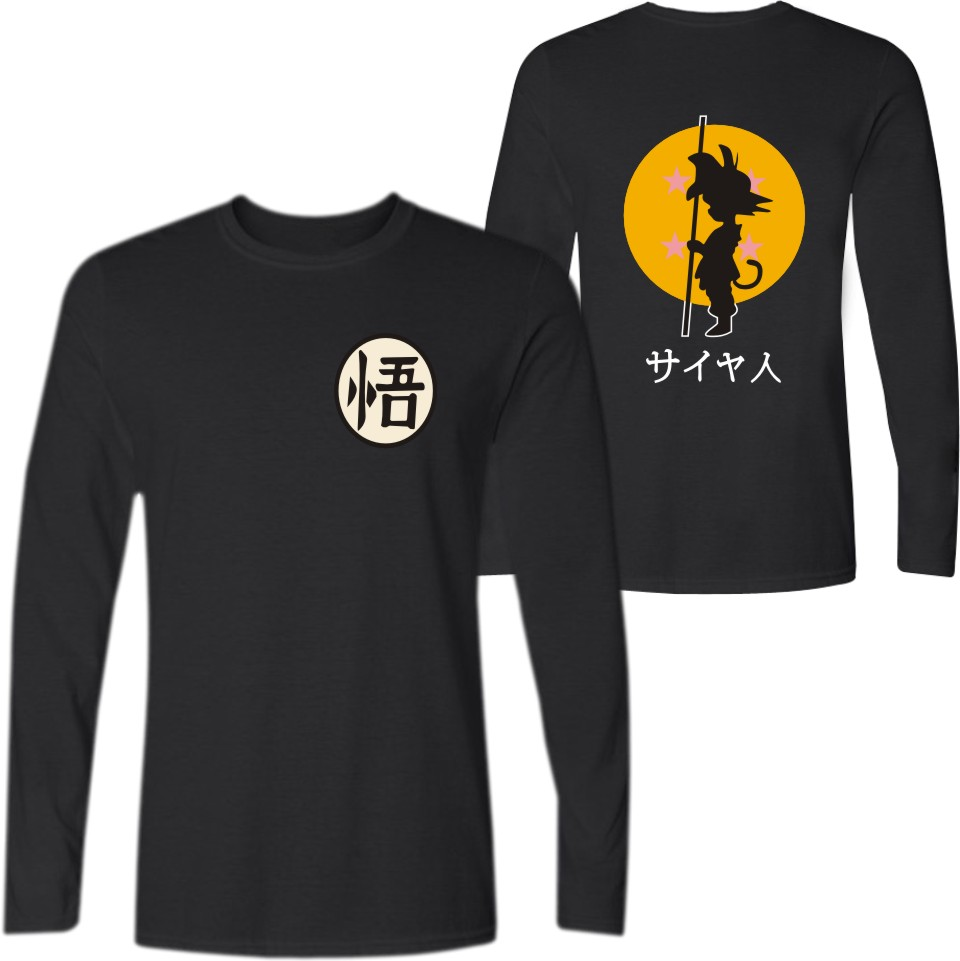 Dragon Ball Son Goku T-shirt Dragon Ball Sun Wukong Kakarotto Cosplay Long Sleeve Tees Men Casual Funny tee shirt