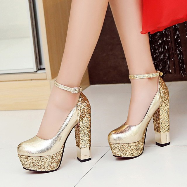 SARAIRIS 2020 New Top Quality Large Size 32-43 Bling Upper Pumps Shoes Women High Heels Sexy Party Wedding Bride Shoes Woman
