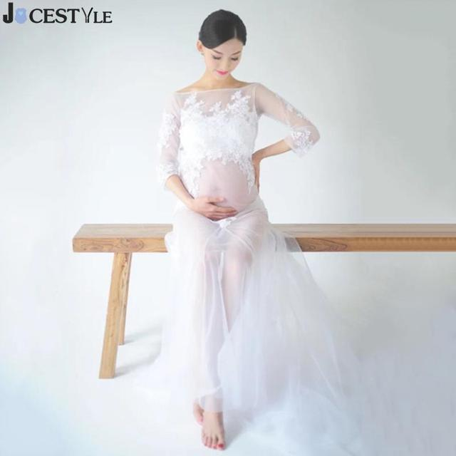 Maternity Photography Props Pregnant Dresses Maxi Maternity Gown ...