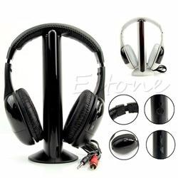 Высокое качество 5 в 1 Hi-Fi Беспроводной гарнитура наушники для ТВ DVD MP3 PC