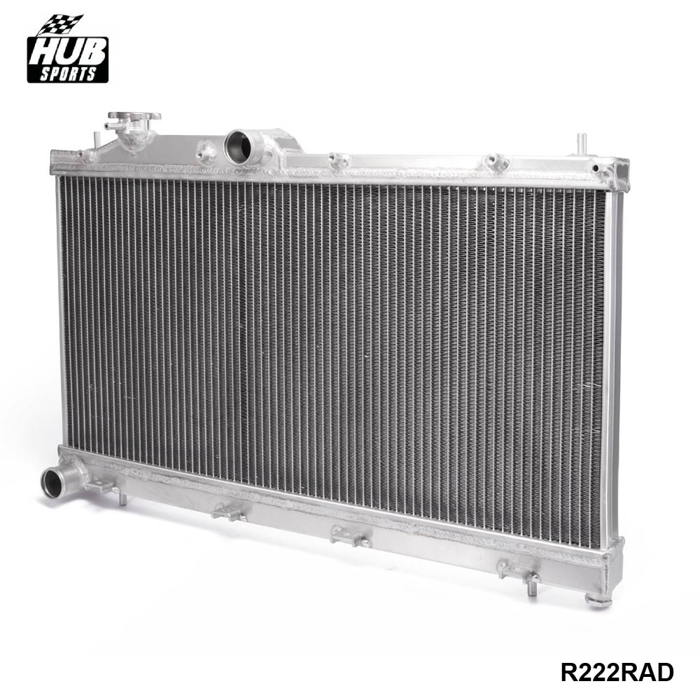 Lightweight All-Aluminum Racing Radiator For Subaru WRX STi 08-14 Manual M/T HU-R222RAD high quality car styling case for mitsubishi lancer 2010 2013 headlights led headlight drl lens double beam hid xenon