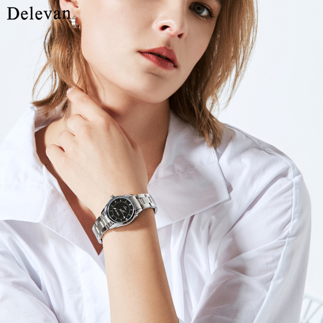 Delevan Women Watches Luxury Brand Fashion Quartz