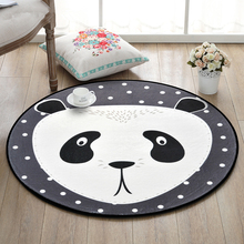 Chinese Panda Round Carpets For Living Room Cartoon Soft Carpet Kids Room Cute Rugs For Bedroom