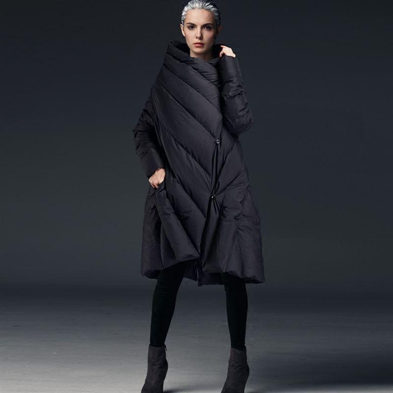 JOJX Parka Women 2018 New Women's Jacket Winter V-collar Long Sleeve Loose Plus Size Irregular Long Winter Coat Women Jacket