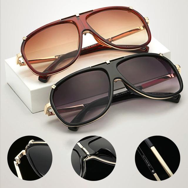 Men's Gradient Square Frame Sunglasses