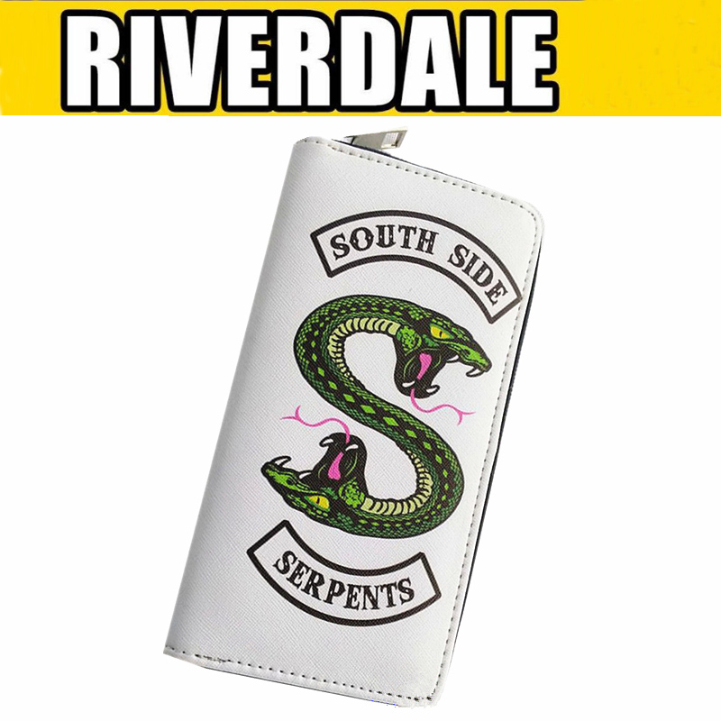 TV Riverdale Wallet Cosplay Props South Side Serpents Coin Wallets Zipper Women Men Christmas Gifts