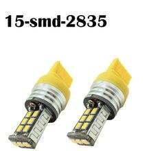 Lampada t20 7440 15smd samsung chips cancelador cobalto captiva amarelo/branca