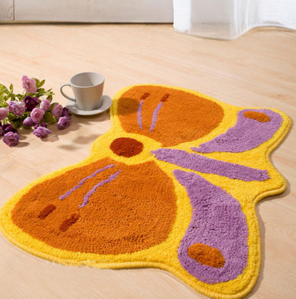NiceRug Free Shipping Child Animated Butterfly Dragonfly Shaped Soft  Bedroom Bathroom Kitchen Home Decorative Carpet Mats