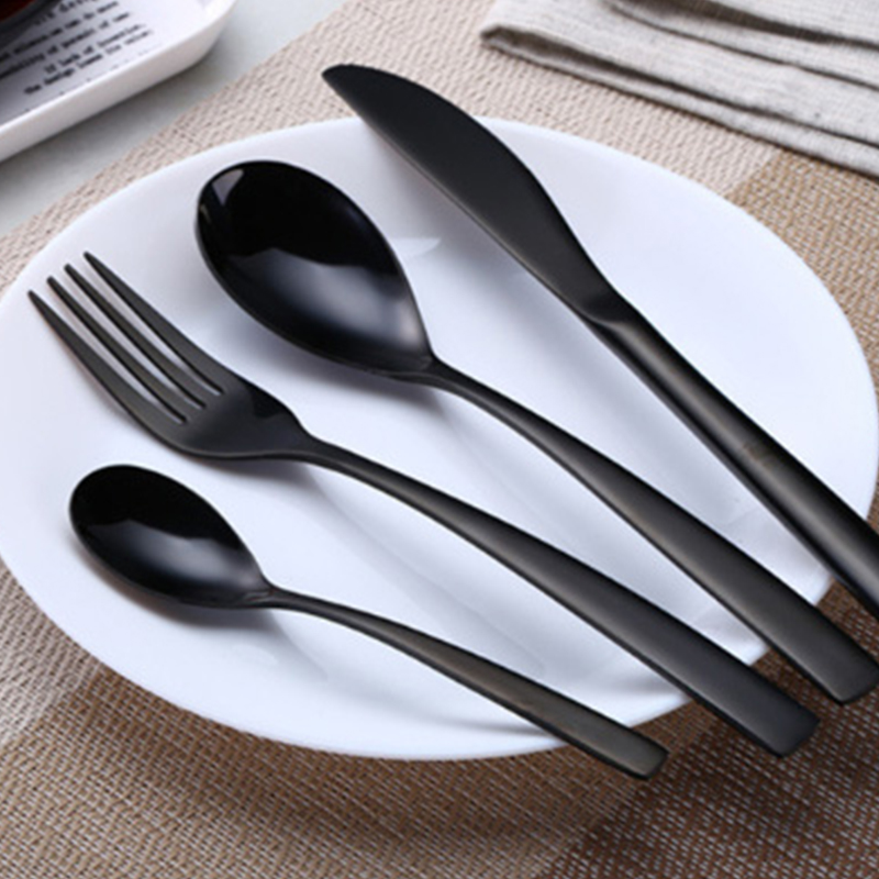1 Set Multicolor Rainbow Dinner Set Wedding Travel Cutlery Stainless Steel Dinner Knife Fork Scoops Set Kitchen Food Tableware in Dinnerware Sets from Home Garden