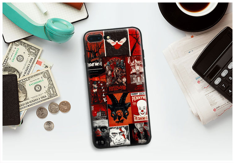 Vintage Horror movie icons Collages Art Tpu Soft Silicone Phone Case Cover Shell For Apple IPhone 5 5s SE 6 6s 7 8 Plus X 10