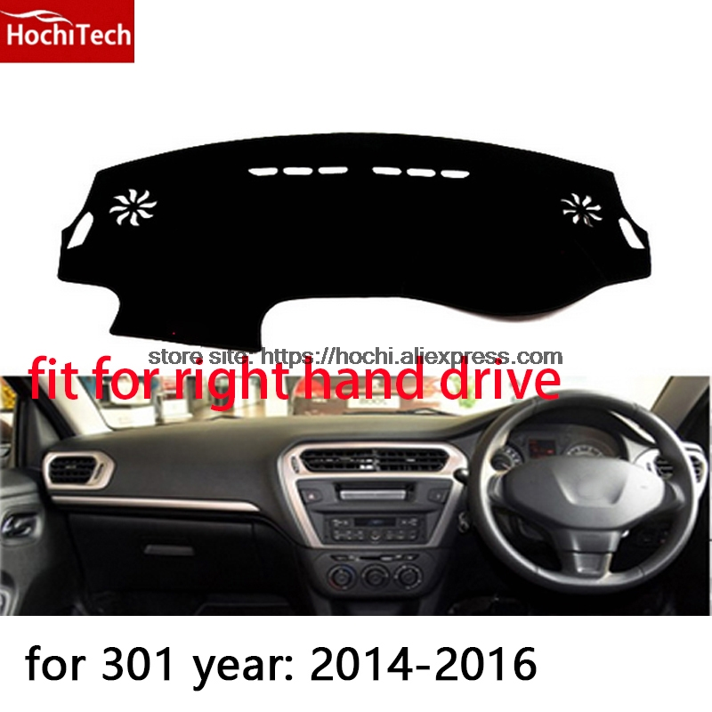 For Peugeot 301 right hand drive dashboard mat Protective pad black color car-styling Interior Refit Sticker Mat products for toyota prius 2012 2013 right hand drive dashboard mat protective pad black car styling interior refit sticker mat products