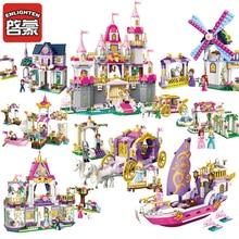цена на ENLIGHTEN Girl Friends Princess Castle Celebration Building Block Bricks Toys Figure Gift For Children Compatible Legoes