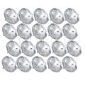 BQLZR 20pcs 25mm Diamond Clear Crystal Charm Upholstery Sofa Headboard Sew Buttons