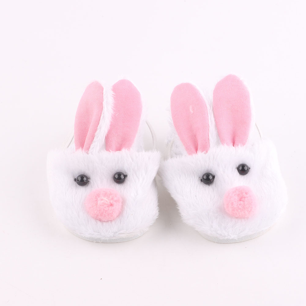 Bunny cotton slippers for 18 inch American girl doll,Children the best Christmas gift