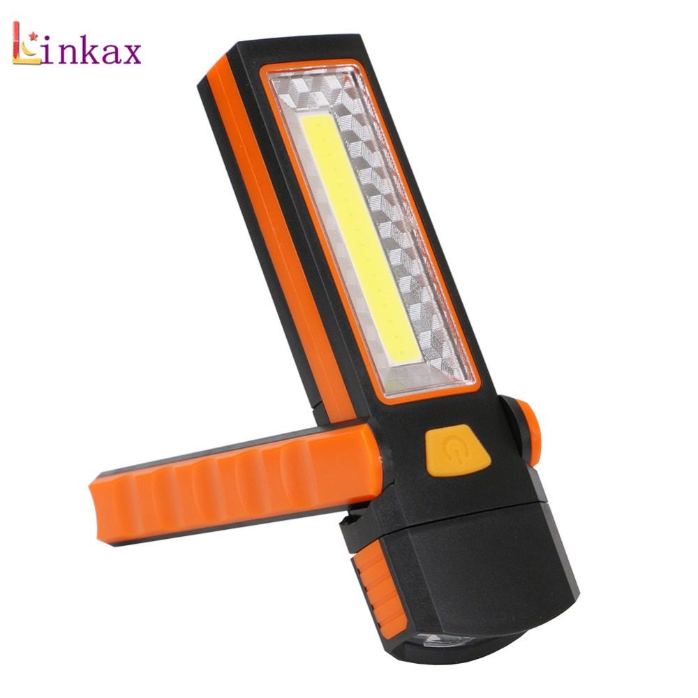 Super Bright Adjustable COB LED Work Light Inspection Lamp Hand Torch Magnetic Camping Tent Lantern With Hook Magnet 36 5 led flashlight work light inspection lamp hand tool garage torch magnet hook camping pocket work lamp inspection lights