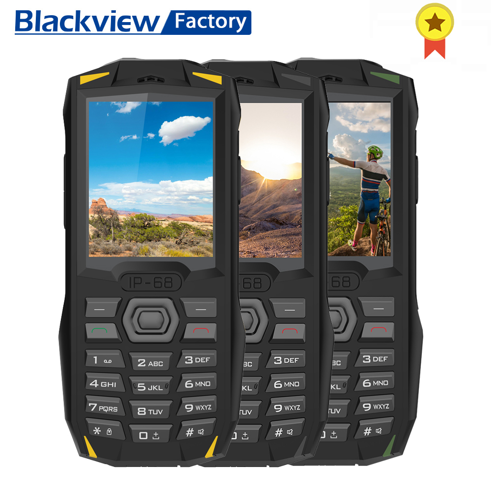 Blackview BV1000 3000mAh IP68 Tri proof mobile phone 2 4 inch dual SIM dual standby torch