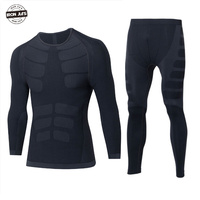 IRON JIA'S Motorcycle Thermal Underwear Set Outdoor Sport Motorcycle Skiing Winter Warm Base Layers Tight Long Johns Tops& Pants