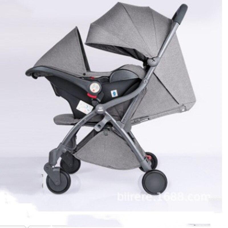 Przenośne urządzenie kieszeni wózek przenośny składany wózek sklepowy 3 w 1 wózek dziecięcy czterokołowy spadochron samochodu