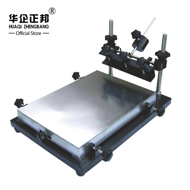 SMT Manual PCB Stencil Printer / Manual PCB Silk Screen Printing Machine, SMT Solder Paste Printer 1pc high precision manual pcb silk screen press precise solder paste printing machine