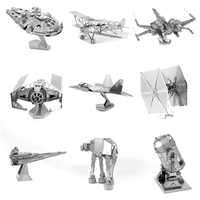 All Metal DIY Assembly Building Model 3 D Three Dimensional Puzzle Glue The Ferris Wheel
