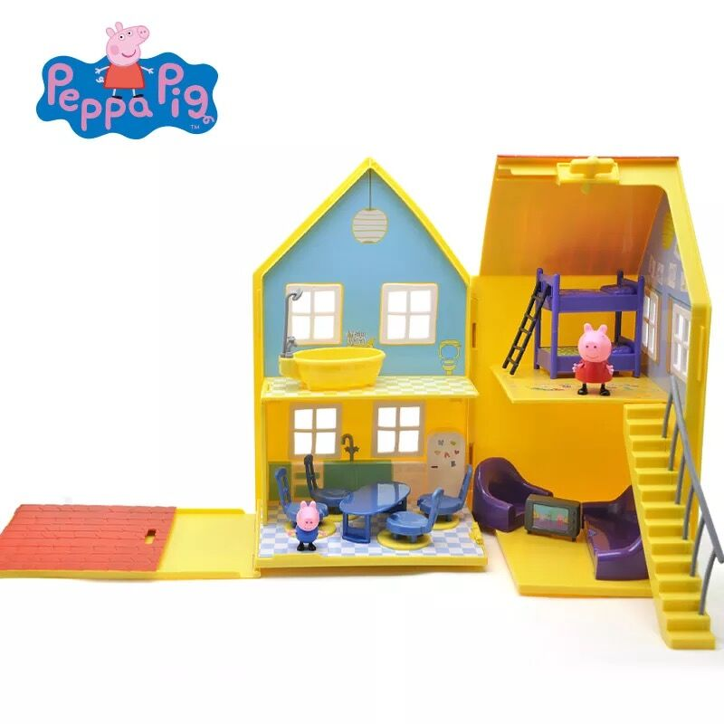 Deluxe/ Genuine Peppa Pig Deluxe Peppa Pig Play House with Accessories Figures George peppa Toy kids birthday toy gift NEW