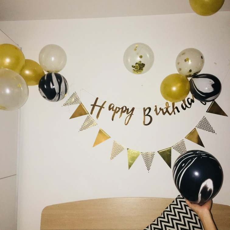 Image 5 - 1set Paper Garland Happy Birthday Banners Hanging Bunting Wedding Decoration Photo Props String Flags Baby Shower Party Supplies-in Banners, Streamers & Confetti from Home & Garden