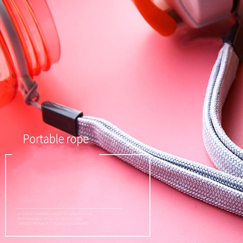 Watter Bottle 560ml/590ml Leak-proof With Rope Drinkware Unbreakable BPA free Plastic Water bottle leak-proof