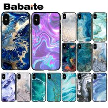Babaite арт мраморная краска Роскошный Уникальный Дизайн чехол для телефона для iPhone 6S 6plus 7plus 8 8Plus X Xs MAX 5 5S XR
