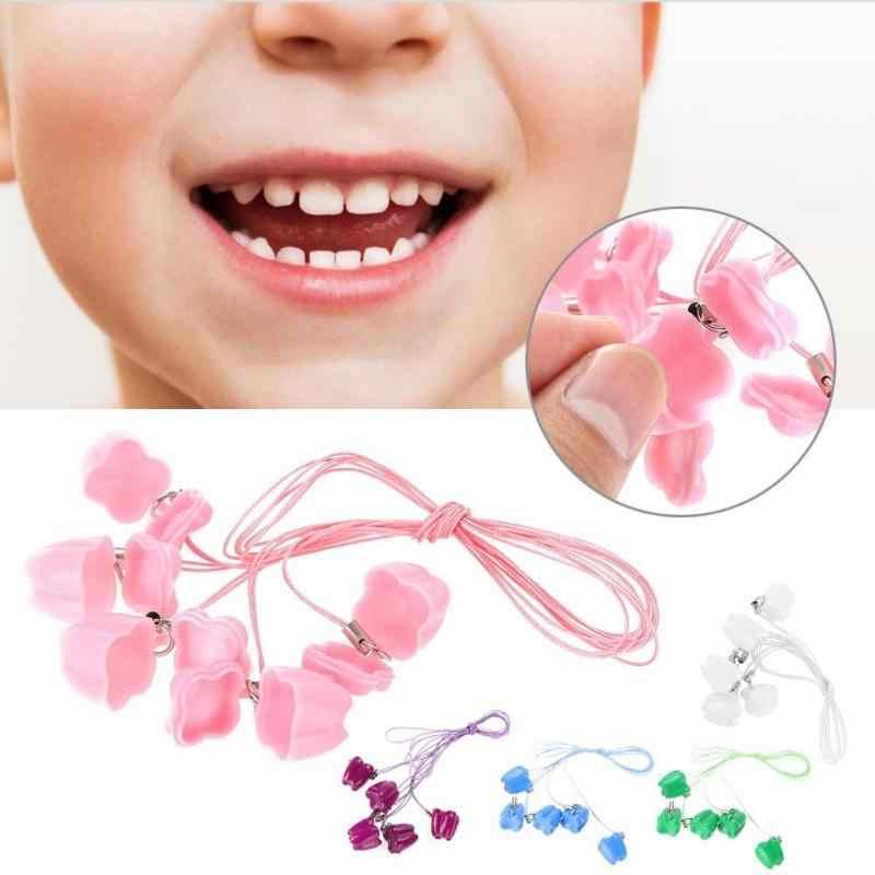 5pcs พลาสติกเด็กนมฟันกล่องเก็บฟัน Saver สร้อยคอ