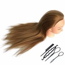 CAMMITEVER Capelli sintetici Attrezzature per parrucchiere Styling Testa bambola Mannequin Strumenti per la testa di formazione Intrecciatura Taglio Studente