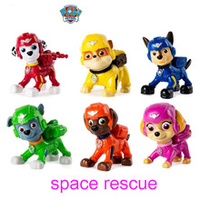 Genuine Paw Patrol -space rescue action figure -chase marshall rocky zuma skye rubble - children's toy kids gift 1pc
