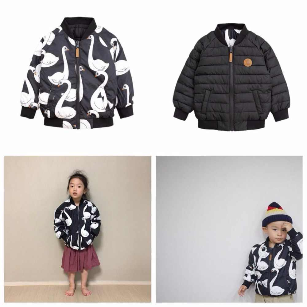 2019 INS HOT KIDS goose DOWN COAT christmas gifts BOYS CLOTHING GIRLS CLOTHING VESTIDOS  children clothing  kids 2 sides