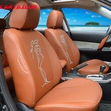 Cartailor сиденья из искусственной кожи для Volkswagen VW Tiguan 2012 2013 2015 Чехлы для сидений мотоциклов сидений автомобилей протектор Салонные аксессуары
