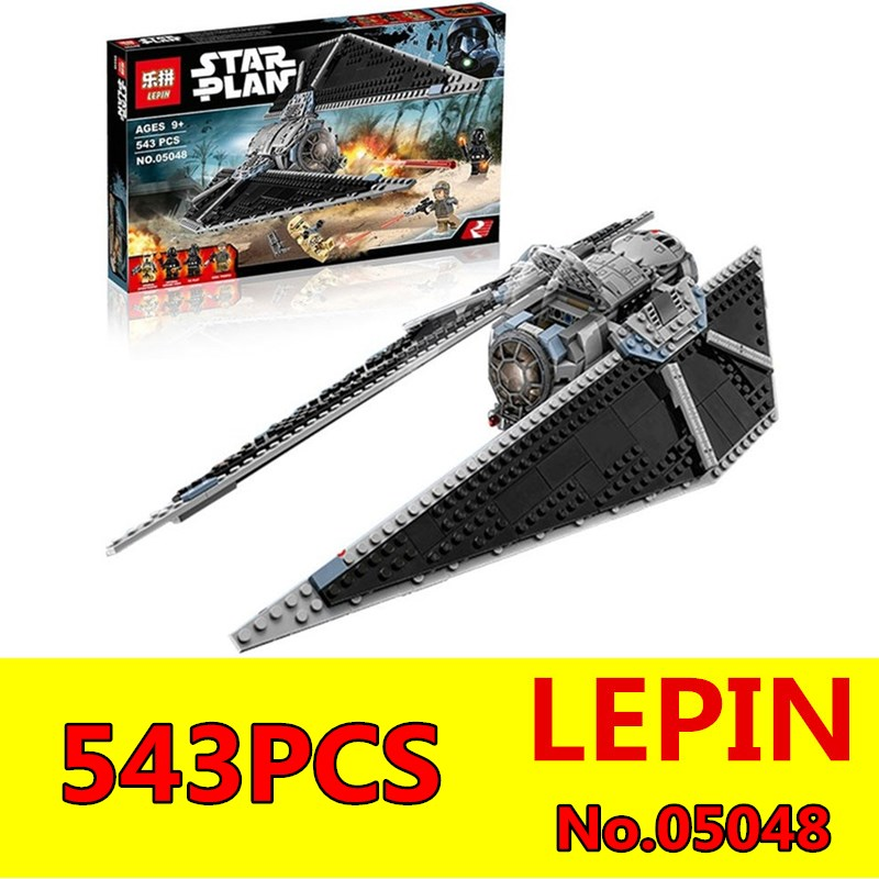 LEPIN 05048 543Pcs Star Series Wars TIE Striker Model Educational Building Blocks Bricks Children Toys Gift Compatible 75154 lepin 02012 774pcs city series deepwater exploration vessel children educational building blocks bricks toys model gift 60095