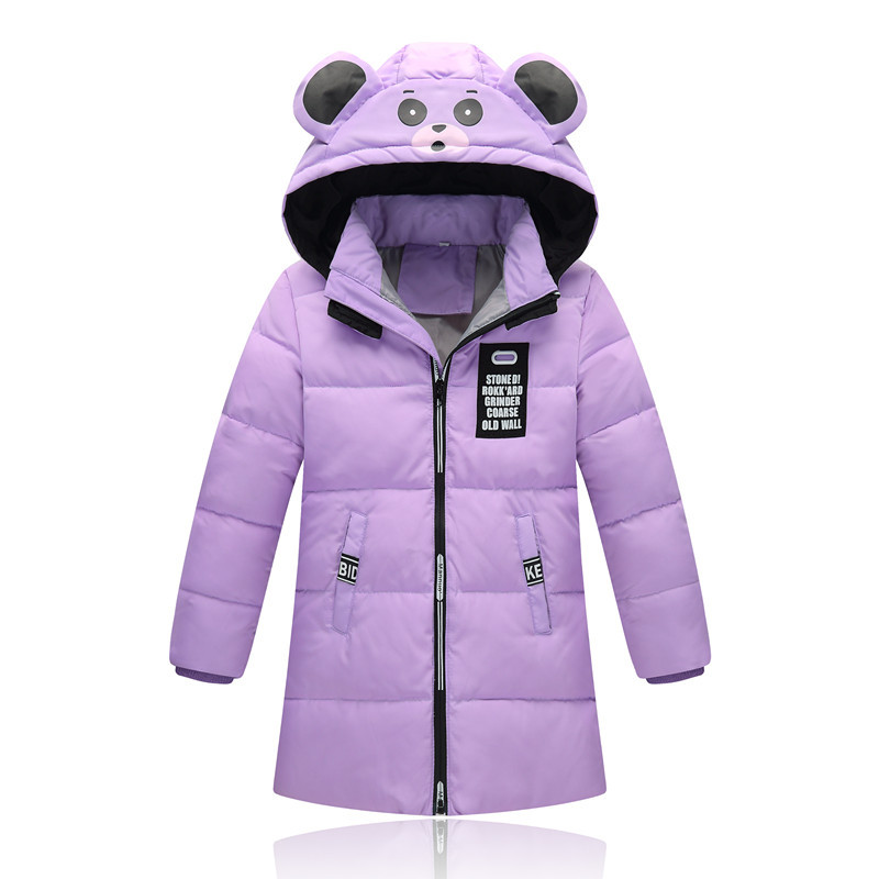 -20 Degree Children's Duck Down Jacket for Girl Clothes Outerwear Fur Long Model Warm Baby Jackets Girls Winter Coat Cold Parka 2018 cold winter warm thick baby child girl hoody long outerwear pink duck down