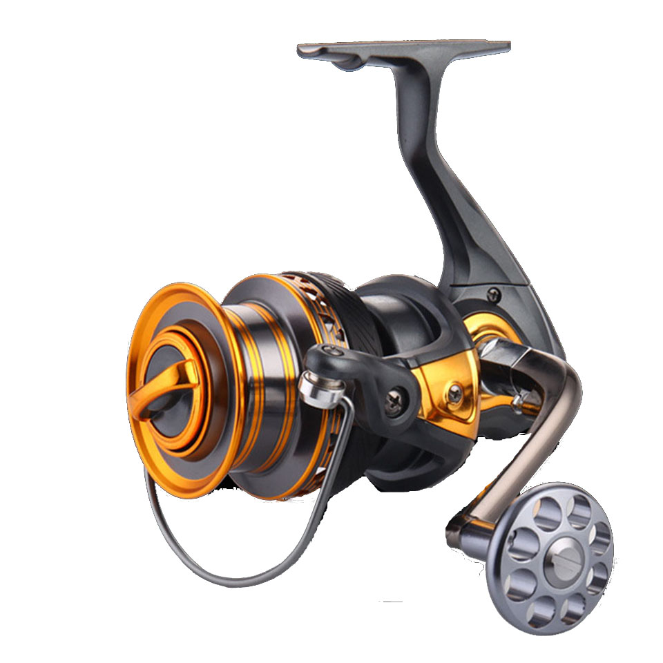 New Metal Arm 13+1BB 4000-7000 Series Surf Spinning Fishing Reels Big Long Shot Casting Fly Sea Wire Cup Wheels