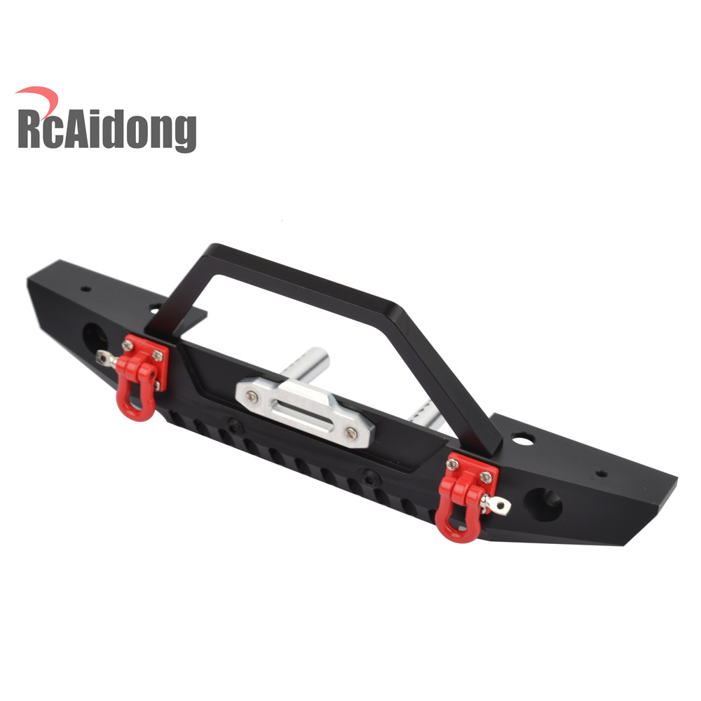 RCaidong 1/10 Front Bumper Bull Bar con LED Faros Winch Mount Seat - Juguetes con control remoto - foto 4