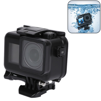 60 Meters Black Waterproof Housing Case for DJI Osmo Action Camera,Diving Protective Housing Shell for DJI Osmo Sports Camera shoot 6 dual handheld dome port waterproof diving housing case cover with trigger for dji osmo action camera lens accessories