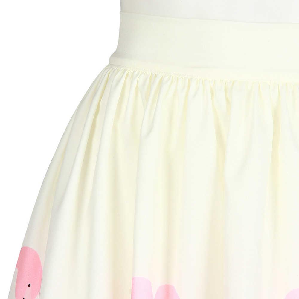 ... Leimolis 3D print blue Pink Flamingo skater sexy pleated lolita high  waist long skirt womens summer ... f958cbcd94ed