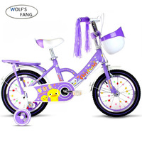 Wolf's fang Child's Bike Cycling Kid's Bicycle With Safety Protective Steel 12/14/16/18 inch Children Bikes Free shipping girls