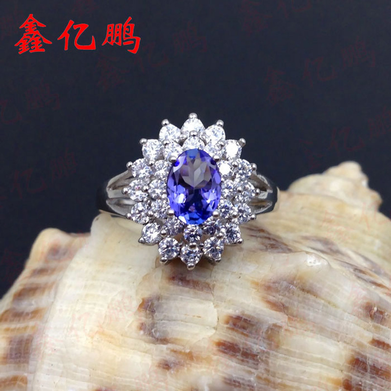 Xin yi peng 925 silver inlaid natural sapphire ring, the woman ring, popular, suitable for the party the yijia yi 1 1 x 001